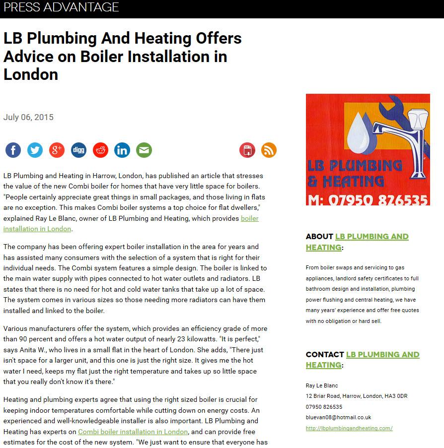 Boiler Installation Advice - London